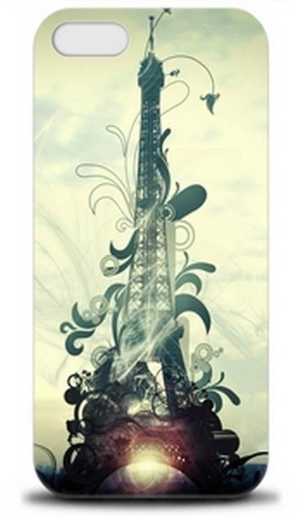 Чехол Apple iPhone 5: Эйфелева башня (арт.1595)